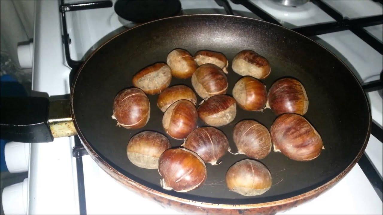 Как приготовить каштаны в домашних условиях на сковороде