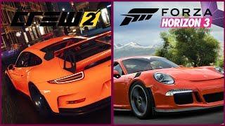 The Crew 3 vs Forza Horizon 3 | Head to Head Comparison | Porsche 911 GTR RS