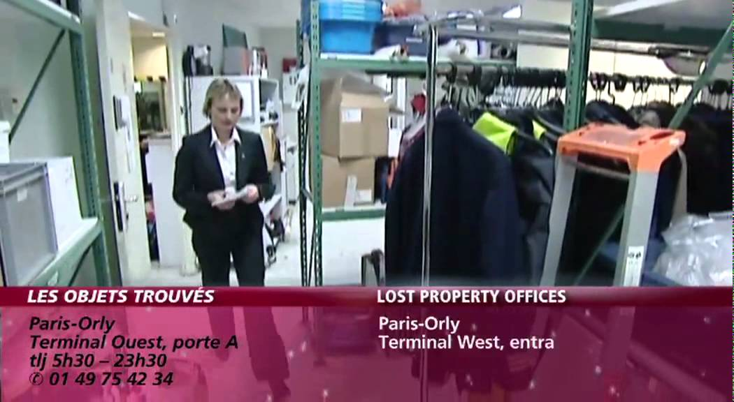 a roports de paris objets trouv s lost property offices youtube. Black Bedroom Furniture Sets. Home Design Ideas