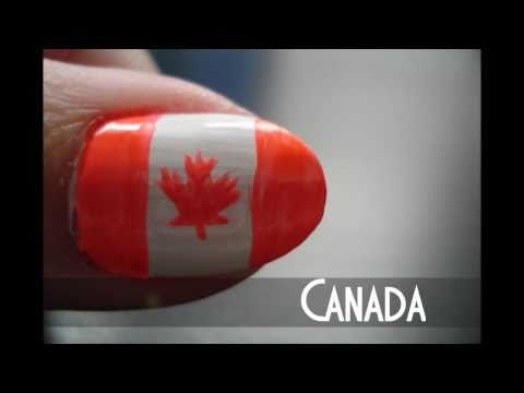 Flag of Canada Nail Tutorial