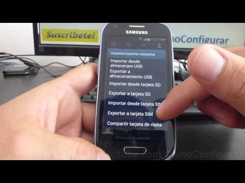 como pasar contactos ala sim card samsung galaxy s3 mini i8190 español Full HD