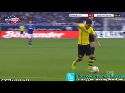 Nuri Sahin Amazing Goal - Schalke vs Borussia Dortmund 0-2 - 26.10.2013