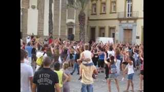 People dancing in street