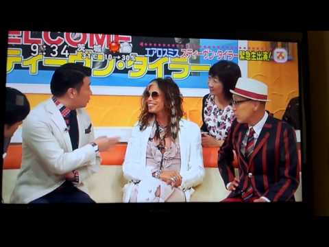 Steven Tyler appears in a Japanese TV program①