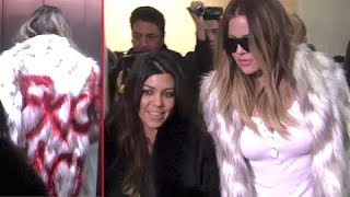 Khloe Kardashian Makes Strong Anti-Fur Statement At LAX [2014]