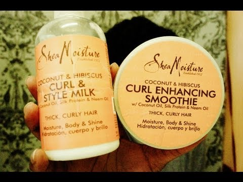 Product Review  Shea Moisture  (curl enhancing cream smoothie/ Curl & Style Milk)