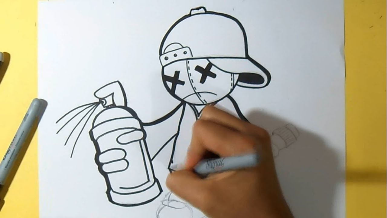 Comment dessiner des graffiti facile - Dessin peinture facile ...