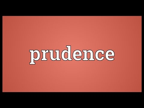 Prudence Meaning