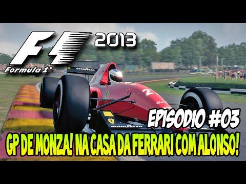 F1 2013 #03 - GP de Monza! Na casa da Ferrari com Alonso! [PT-BR]