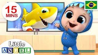 Dançando com o Bebê Tubarão! (Baby Shark) | + Vídeos Infantis | Little Angel Português