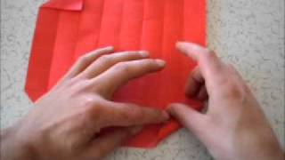 Kirmizi Orİgamİ GÜlÜ - How To Make Red Origami Rose - Part2