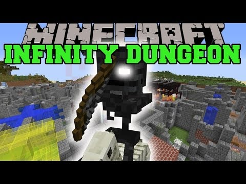 Minecraft: INFINITY DUNGEON (RANDOMLY GENERATED ROOMS & CHESTS!) Mini-Game