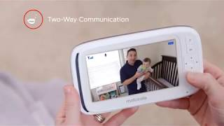 """Motorola Comfort 50 Video Baby Monitor with 5"""" Color Display, Digital Zoom, Two-Way Audio, Infrared"""