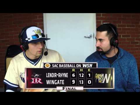 2015 Wingate Baseball - Lenoir-Rhyne postgame interview with Thomas Spitz