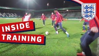England U21 tiki-taka rondo drill | Inside Training