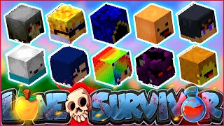 "Minecraft LONE SURVIVOR - ""OUR FIRST 10 PLAYER SKULLS!"" - Episode 4"