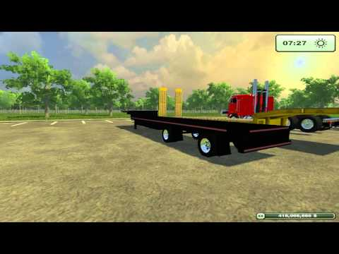 Farming Simulator 2013 Mods - American Trailers and Peterbilt