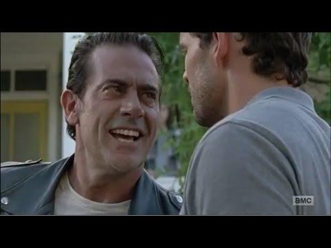Negan Kills Spencer With Knife Scene The Walking Dead