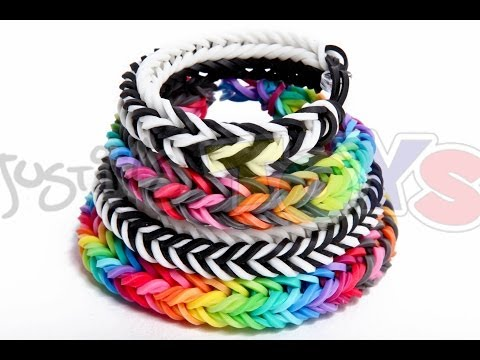 Dragon Fishtail Bracelet - EASY Rainbow Loom and Monster Tail Tutorial