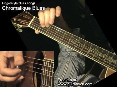 CHROMATIQUE BLUES: Fingerstyle Guitar + TAB by GuitarNick