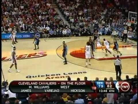 Carmelo Anthony vs Lebron James Highlights Nuggets @ Cavs 02/18/10
