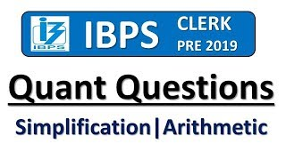 IBPS CLERK PRE 2019 MISCELLANEOUS QUANT QUESTIONS || Memory Based Questions