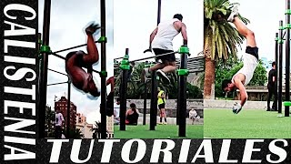 3 TUTORIALES - Fácil, Intermedio y Difícil - Trucos de Street Workout y Calistenia
