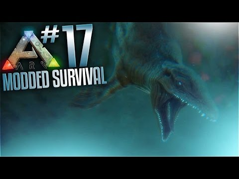 Ark Modded Survival   Ep 17   Deep Sea Loot Crates And Mosasaurus Tame W XB