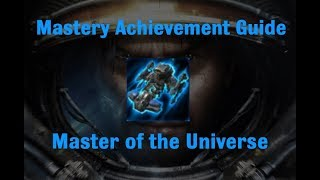 Master of the Universe Mastery Achievement - Starcraft 2 Wings of Liberty