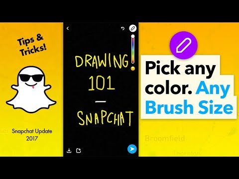 How to Use Snapchat Drawing Tool and Pick any Color