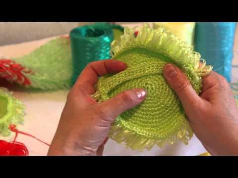 Как вязать мочалку крючком