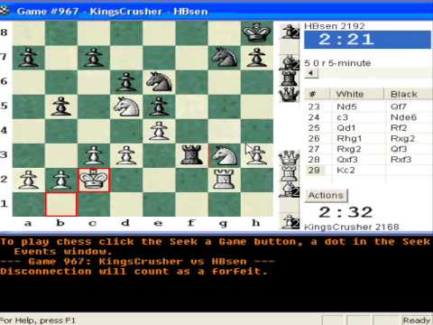 Chessworld.net : Blitz #252 vs. HBsen (2192) - Vienna: Paulsen-Mieses variation (C26)