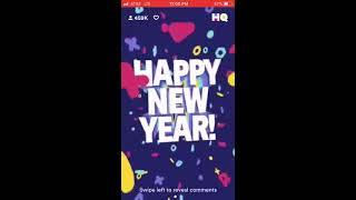 HQ Trivia: New Years Eve $18,000 Fail (2018)