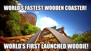 Lightning Rod Dollywood New For 2016 World's First Launched & World's Fastest Wood Roller Coaster!