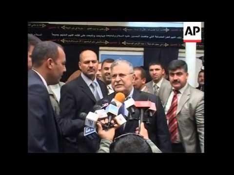 Iraqi president visits Shiite cleric Al Sistani ADDS presser