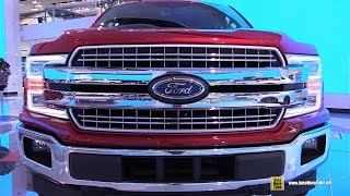 2018 ford f150 lariat   exterior and interior walkaround   debut at 2017 detroit auto show