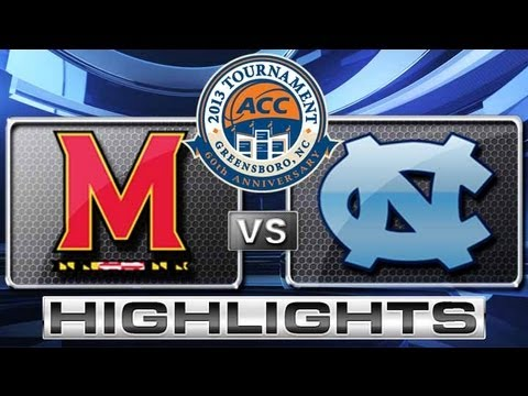 Maryland vs North Carolina Highlights: ACC Men's Basketball Tournament - Semifinals