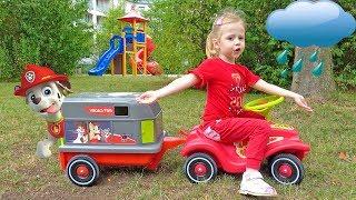 Настя спасает игрушки патруль щенячий на детской площадке Видео для детей