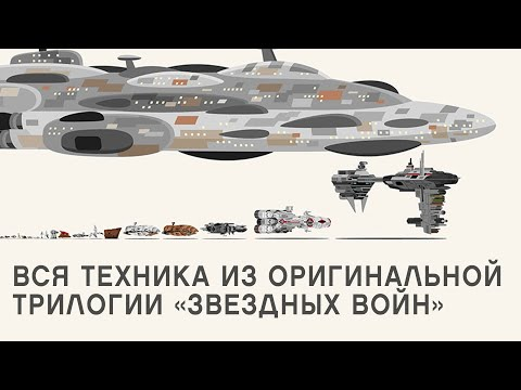 Вся техника из оригинальной трилогии «Звездных войн» и сравнение размеров