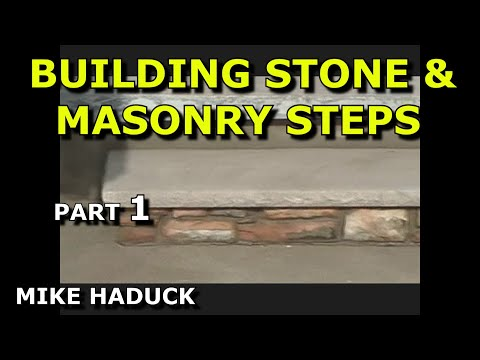 How I Build Stone Steps Part 1of 5 Mike Haduck Youtube