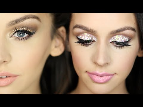 2 Sparkly New Years Eve Makeup Looks! - 2 Csillogó szilveszteri smink