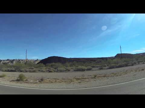 Ajo, Arizona, driving south on Arizona State Route 85 to strip mine, 2 December 2013, GP037944