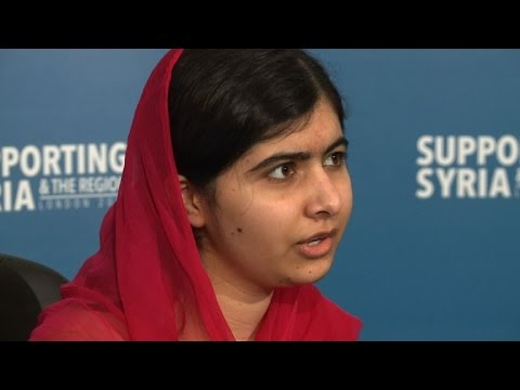 Malala urges Syria conference to give millions for education
