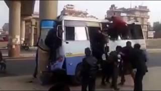 Dangerous Bus Accident near B&B hospital, Kathmandu, Nepal