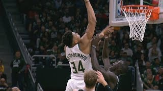 Giannis Dunks on Thon Maker Game 2! 2019 NBA Playoffs