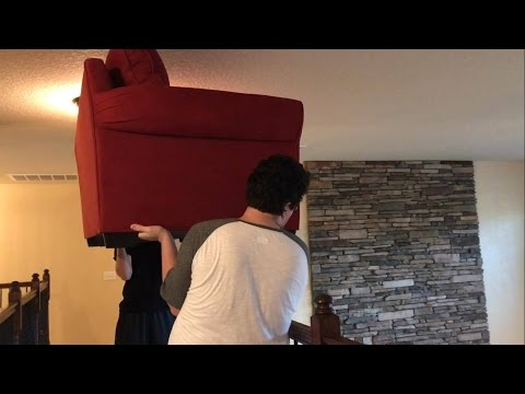 THROWING COUCH AND TV OFF A BALCONY! (JEFFY'S TANTRUM BEHIND THE SCENES)