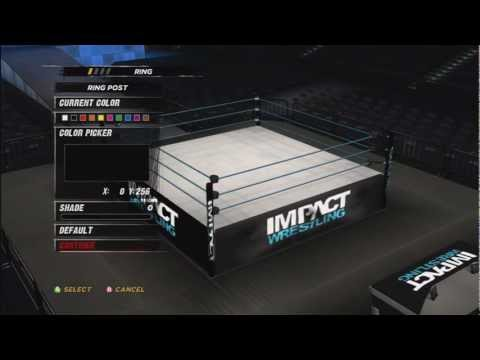 How To Make Tna Impact Arena In WWE ´12 ( Create An Arena ) HD