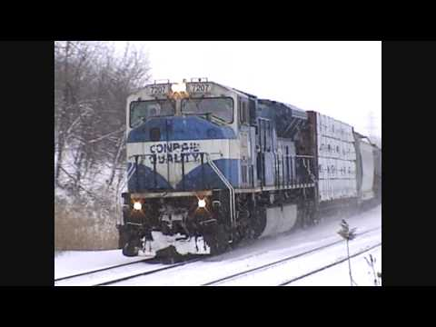HiDef Conrail Quality SD80MAC long live the blue Q 20 Cylinders Churning !!!!