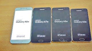 Samsung Galaxy A8 vs A7 vs A5 vs A3 (2016) - Speed Test! (4K)
