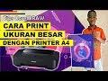 Cara Print Ukuran Besar Dengan Printer A4 - Tutorial Coreldraw